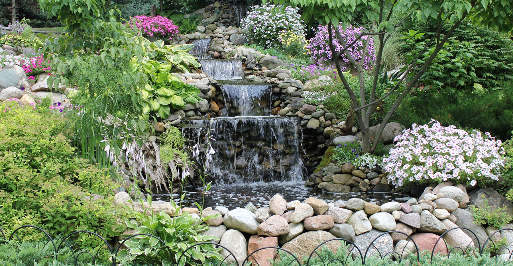 50 ft cascading waterfall, Riverside Receptions Outdoor Weddings