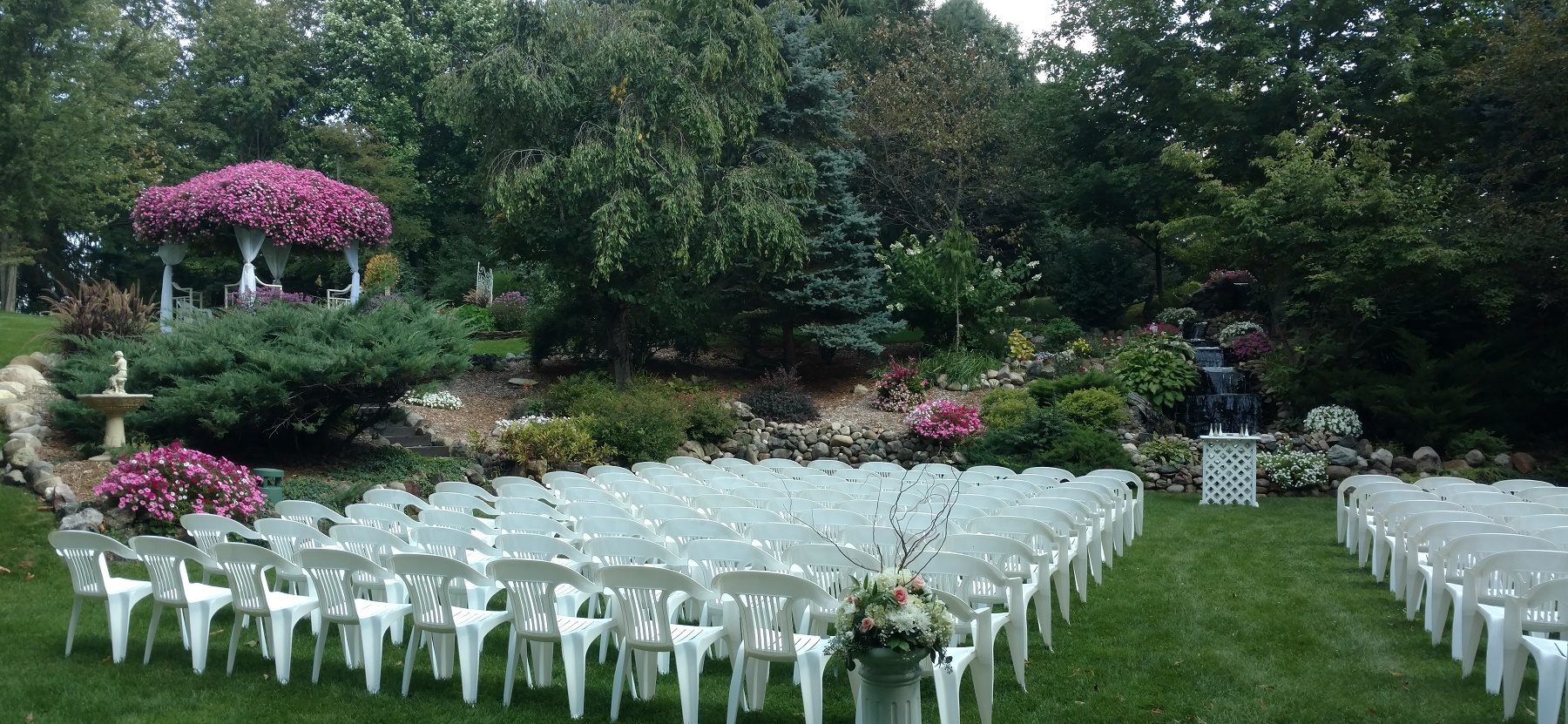 One of many Outdoor Wedding Sites at Riverside Receptions